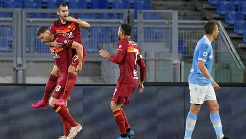 Рома уверенно переиграла Лацио в римском дерби Серии А: видео