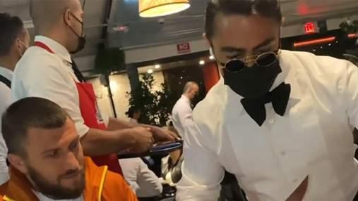 Ломаченко побывал у знаменитого мем-мясника Salt Bae: видео