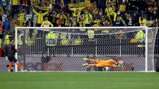 Как де Хеа не забил пенальти в финале Лиги Европы: видео