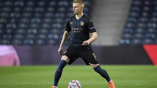 Зінченко – у старті Манчестер Cіті у фіналі Ліги чемпіонів