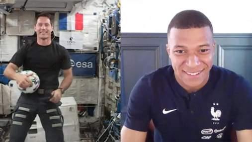 Мбаппе стал первым футболистом, который поговорил с космонавтом на МКС