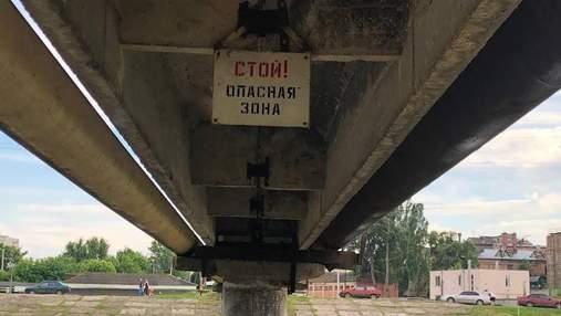 В Харькове велосипедист упал с дамбы в реку: обнародовали видео спасения