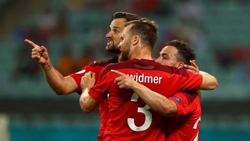 Швейцарія у матчі з дивовижними голами перебила турків, але не гарантувала собі плей-офф: відео