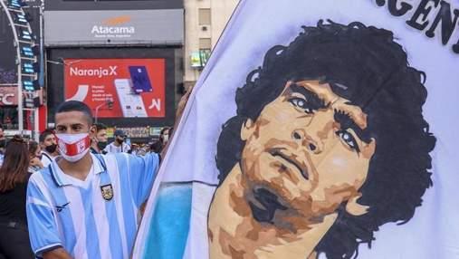 Перед матчем Аргентина – Чили устроили роскошное лазерное шоу в память о Марадоне: видео