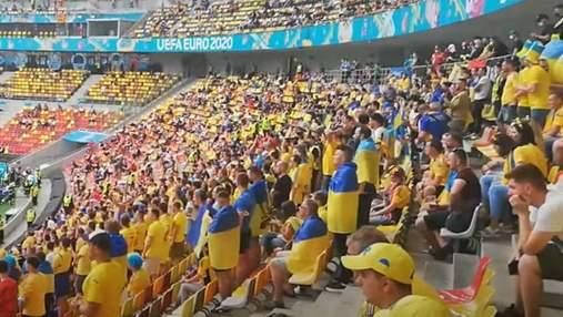 """На матче Украина – Македония фаны исполнили хит """"Путин – ху*ло"""": видео со стадиона"""