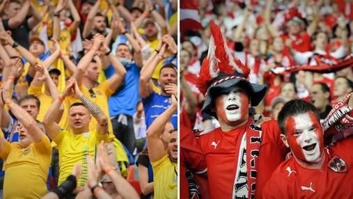 """Еще один хит Евро: фанаты Украины и Австрии вместе скандировали """"Кто не скачет – тот москаль"""""""