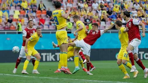 Австрія відкрила рахунок у матчі з Україною, забивши після кутового