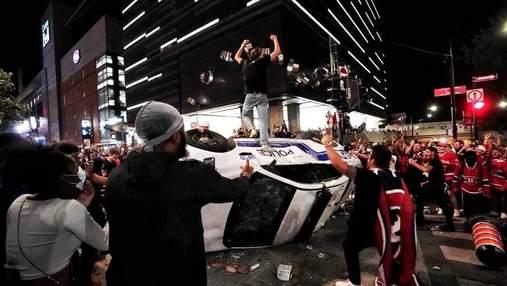 Разгромлены магазины и авто: в Монреале отпраздновали выход команды в финал Кубка Стэнли – видео