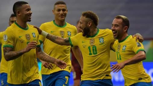 Бразилія героїчно вийшла до півфіналу Копа Америка: відео перемоги Неймара та Ко