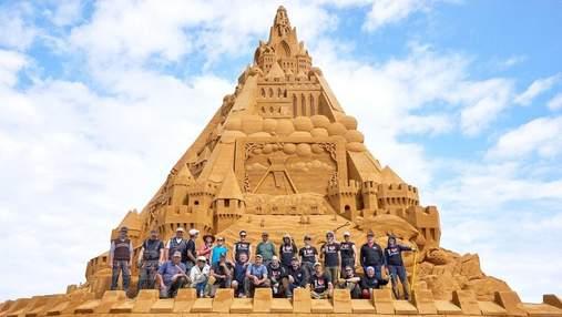 Самый высокий в мире: в Дании построили гигантский замок из песка – фото, видео