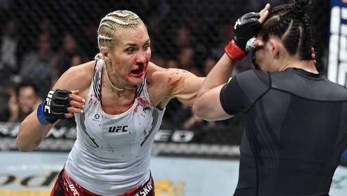 Российскую красавицу нокаутировали в первом раунде боя UFC 264: видео