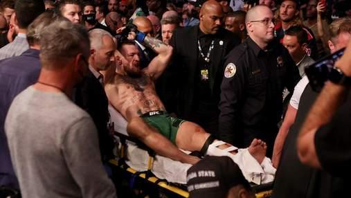 Нога выгнулась в другую сторону: МакГрегора прооперировали после жуткого перелома