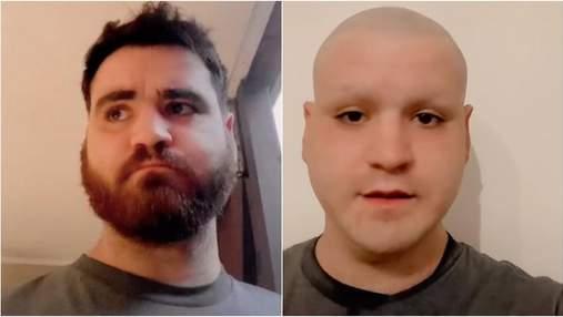 Болельщик побрил голову, бороду и брови после поражения Англии на Евро-2020: курьезное видео