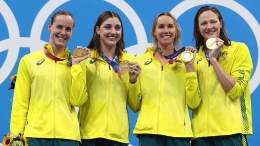 Золотые русалки из Австралии: установлен первый мировой рекорд на Олимпиаде-2020
