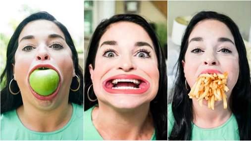Американка с самым большим в мире ртом попала в Книгу рекордоа Гиннесса: впечатляющие видео