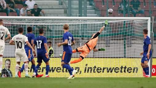 Лунин спас Реал от поражения в матче с Миланом невероятным сейвом: видео