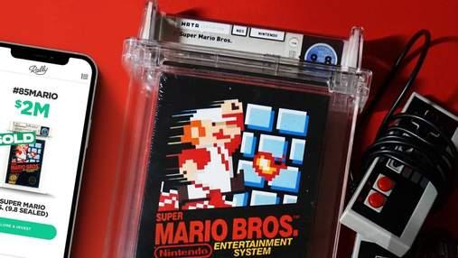 Відеогру Super Mario Bros. продали за 2 000 000 доларів: вона стала найдорожчою в історії