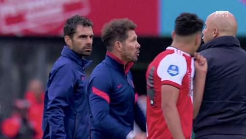 Товариський матч із вибуховими емоціями: Сіміоне ледь не побив тренера суперника – відео
