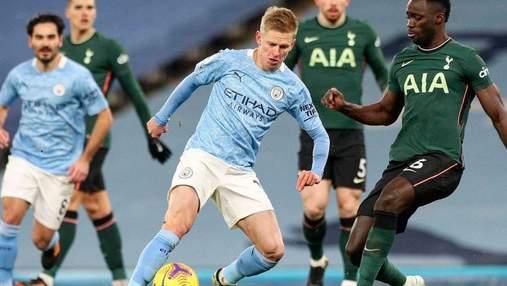 Манчестер Сити Зинченко стартовал в чемпионате Англии с сенсационного поражения Тоттенхэма