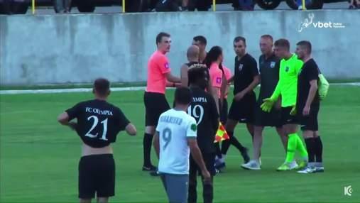 Скандал в Кубке Украины: тренер пытался побить судью прямо на поле – видео