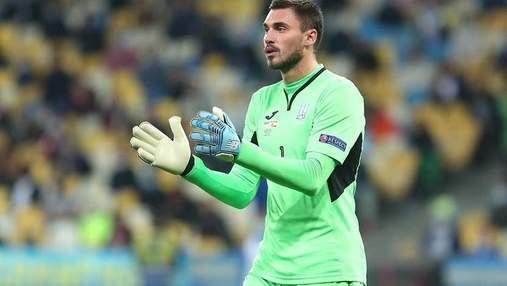 Сборная Украины осталась без основного вратаря перед матчами отбора на ЧМ-2022