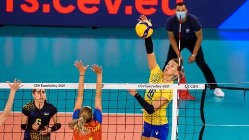 Україна впевнено обіграла Румунію на жіночому чемпіонаті Європи з волейболу