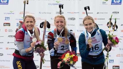 Юлия Джима завоевала серебро в гонке-преследовании на летнем чемпионате мира по биатлону-2021