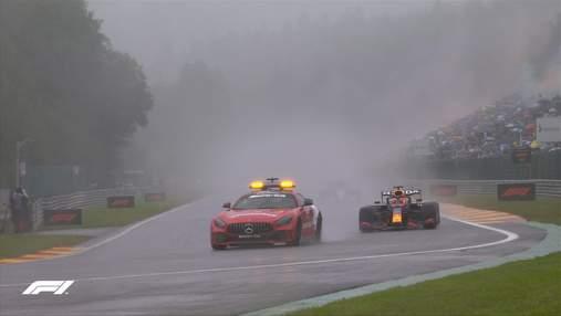 Гран-прі Бельгії стало найкоротшою гонкою Формули-1 – пілоти фінішували через три кола