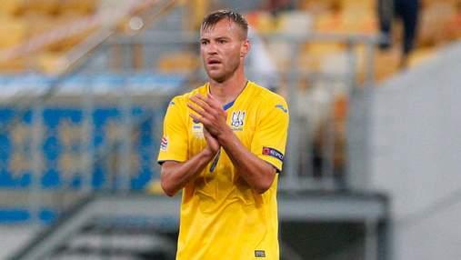 Назван лучший футболист сборной Украины в матче с Казахстаном