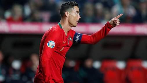 Роналду ударил соперника за хамство в матче отбора ЧМ-2022: видео