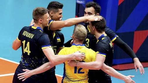 Украина в тяжелом поединке победила Португалию на Евро по волейболу