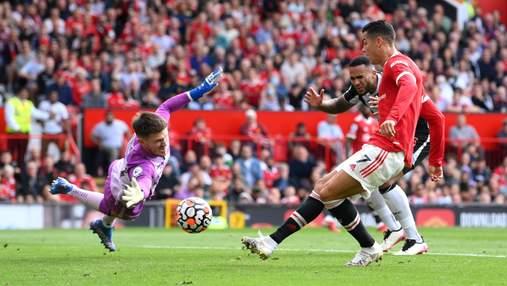 Роналду забив перший гол за Манчестер Юнайтед в дебютному матчі: відео