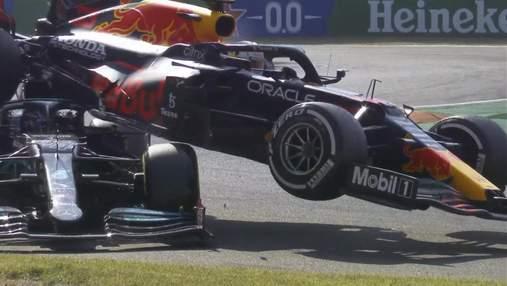 """Ферстаппен врізався у Хемілтона на гран-прі Італії, переможний дубль McLaren у """"Монці"""""""