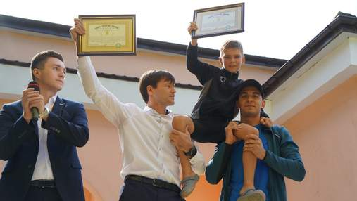 9-летний украинец Захаров сделал 1001 отжимание и установил рекорд: фото