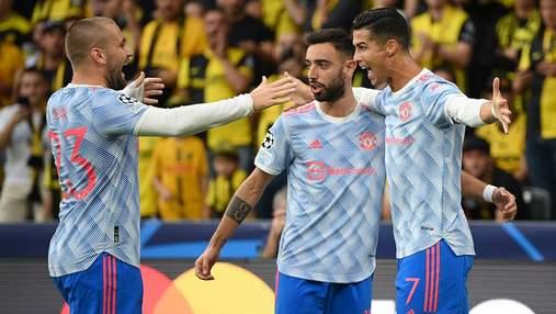 Роналду забив дебютний гол у Лізі чемпіонів після повернення у Манчестер Юнайтед: відео