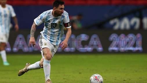 Шедевр в ворота Уругвая: Месси забил юбилейный гол за Аргентину и получил награду за рекорд
