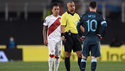 Месси обвинил арбитра в предвзятом судействе в матче Аргентина – Перу