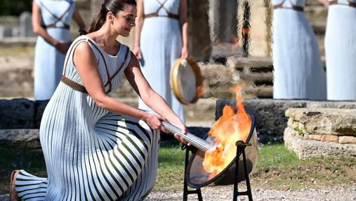 В Греции зажгли олимпийский огонь для Игр-2022 в Пекине