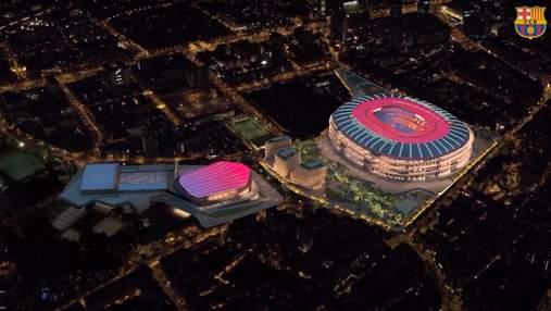 """Барселона представила проєкт реконструкції стадіону """"Камп Ноу"""" на 1,5 мільярди євро: відео"""