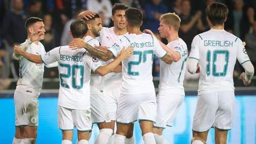 Манчестер Сити Зинченко уничтожил Брюгге Соболя в Лиге чемпионов: видео