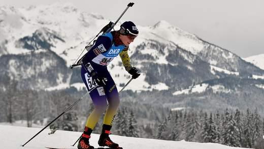 Лучшая украинская биатлонистка узнала, что пропустит гонку в Оберхофе перед самым стартом