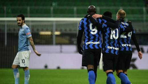 Интер уверенно победил Лацио и возглавил Серию А: видео