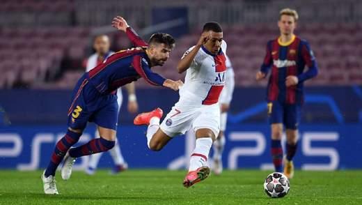Спорный пенальти и хет-трик Мбаппе: ПСЖ разгромил Барселону в Лиге чемпионов – видео