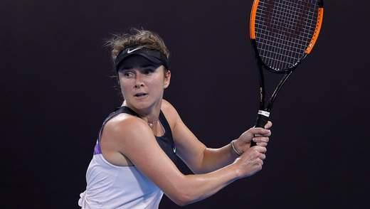Еліна Світоліна програла росіянці у стартовому матчі в Дубаї