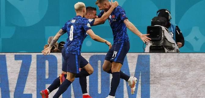 Словакия сенсационно прибила Польшу в матче Евро-2020: видео