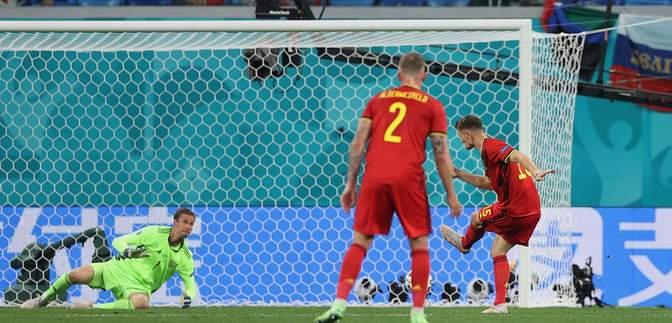 Бельгия забила второй гол в ворота России на Евро-2020: видео