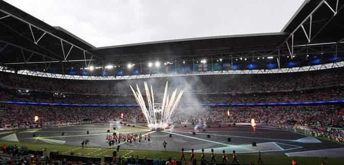 """Англія – Італія: на """"Вемблі"""" перед фіналом відбулася церемонія закриття Євро-2020 – фото"""